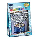 Rite-Lite Judaica Mini Aluminum Menorah includes Mini Candles