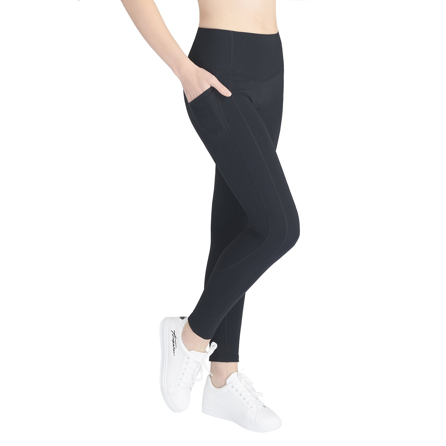 3158f3b282 4-way stretch fabric with High Waist Tummy Control & Hidden Pockets workout  leggings. Fits for variety of exercises or everyday use. ANKLE YOGA PANTS:  ...