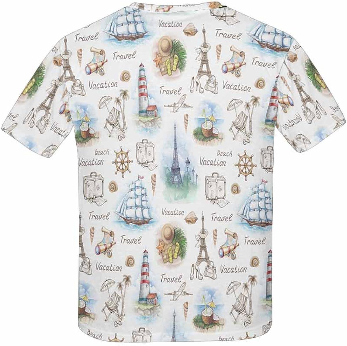 XS-XL INTERESTPRINT Childs T-Shirt Travels Pattern