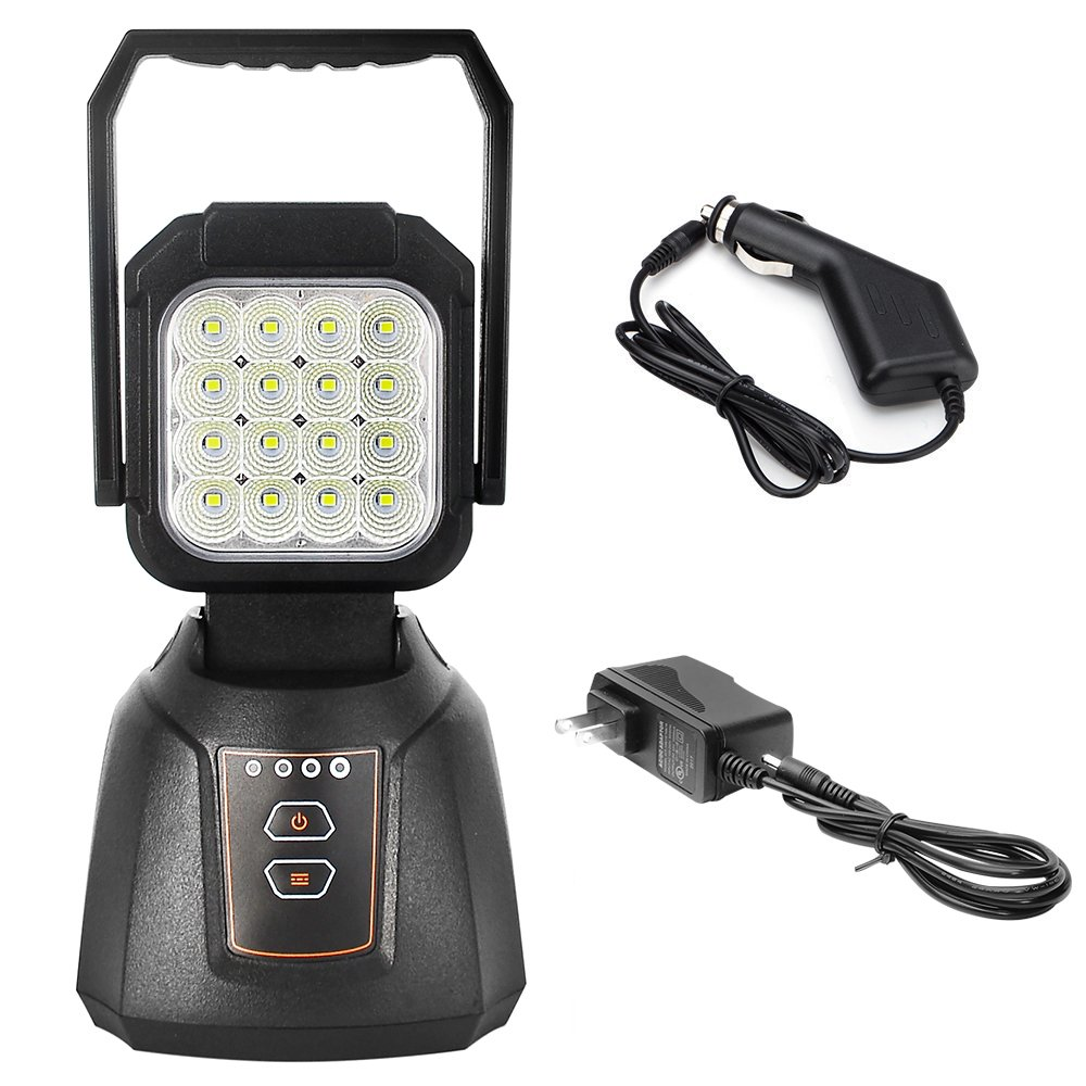 LED Work Light Rechargeable AAIWA 48W Outdoor Camping Light LED Emergency Flood Light for Auto Repair Workshop LED Search Light with SOS Function Magnetic Base,1 Years Warranty