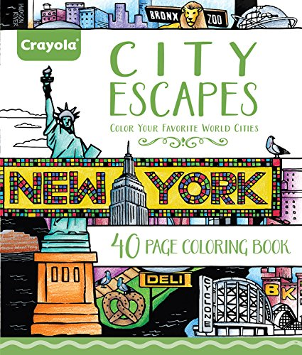 Crayola City Escapes Coloring Pages, Gift for Teens & Adult Coloring Enthusiasts, 40pgs]()
