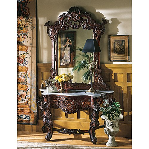 Design Toscano Hapsburg Mirror and Marble Topped Console - Marble Tables Antique
