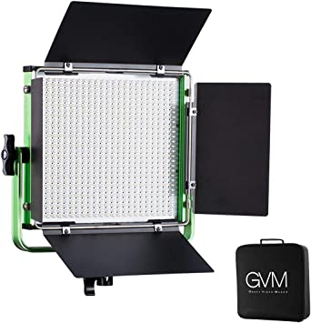 Gvm 672s Master Series Led Video Light Panel Cri97 Dimmable Bi Color Led Video Light With Lcd Display For Product Photography Studio Video Shooting