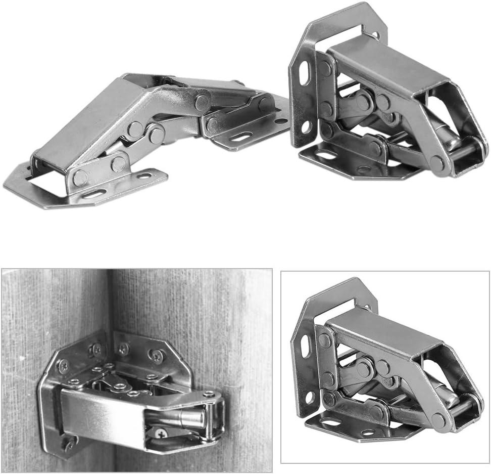 FTVOGUE de f/ácil instalaci/ón Tipo Armario Conjunto de 10 bisagras plegadas para Armario o Puerta
