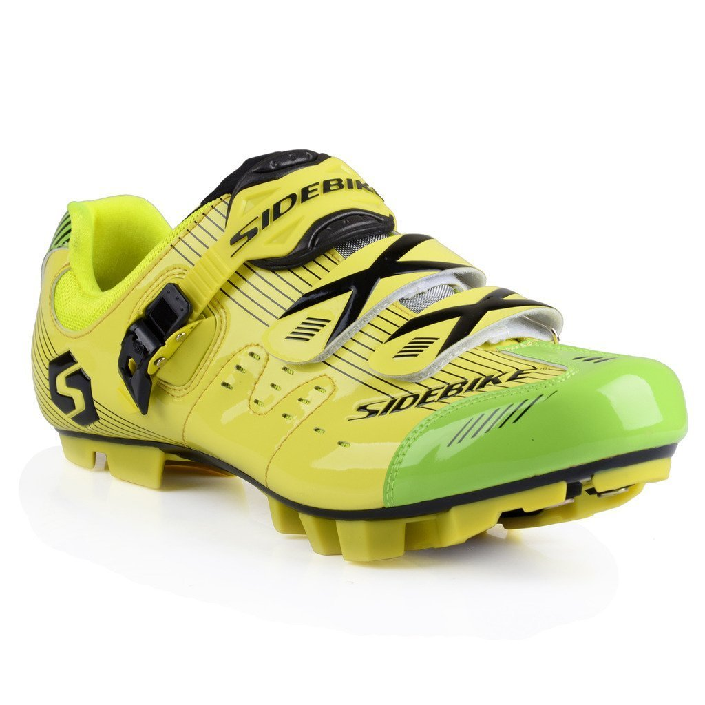 SIDEBIKE Adult's S03 MTB or Road Synthetic Cycling Shoe B014WM0EIE 9 M US|Mtb-yellow