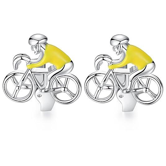 HONEY BEAR Bicicleta Ciclista Bicicleta Ciclismo Gemelos para Hombre Camisa - Bike Cyclist bycycle Cycling para Boda Negocio Regalo (Amarillo): Amazon.es: ...