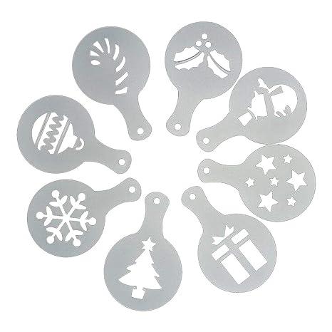 8pcs/Set del árbol de Navidad Torta de la Torta de la Galleta Molde de