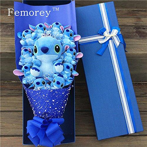 11pcs/set Stitch Plush Toy Bouquet (Without Box)