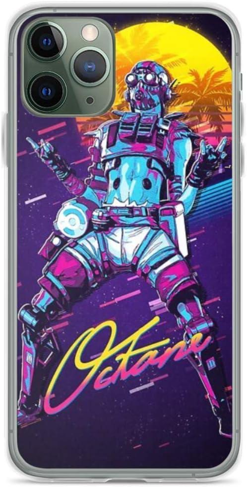 Phone Case Apex Legends - Octane 80s Retro Miami Vaporwave Compatible with iPhone 11 Pro Max Scratch Accessories
