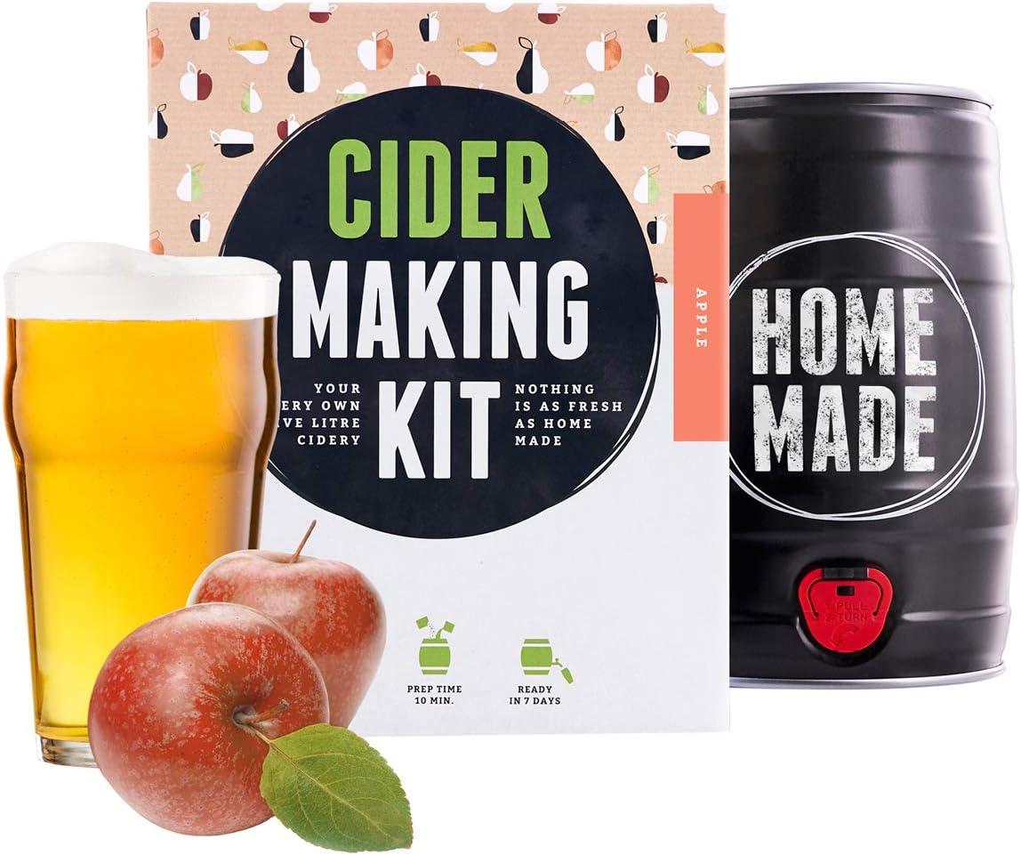 Kit para elaborar Cider de Manzana en Casa - Producto de Alemania - Disfruta tu Cider en sólo 7 días - Brewbarrel Braufässchen - Regalos Originales para Mujer