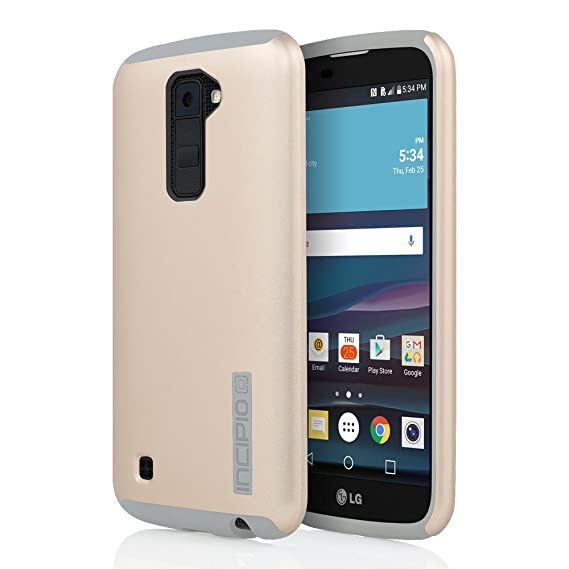 online store 83ed9 a5b14 Incipio LG K10 Case, [Hard Shell] [Dual Layer] DualPro Case for LG  K10-Gold/Gray