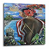 3dRose Melissa A. Torres Art Puerto Rican Art – Image of Woman with Puerto Rican imagery – 15×15 Wall Clock (dpp_261559_3) Review