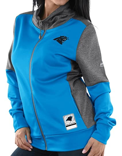 8e1809536 Image Unavailable. Image not available for. Color  Majestic Carolina  Panthers Women s NFL Quick Out Full Zip Sweatshirt