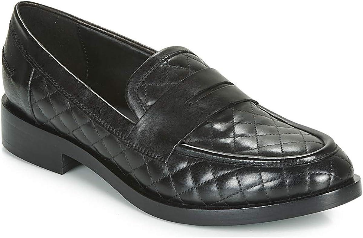 GEOX Donna Brogue Mocasín & Zapatos náuticos Mujeres Negro Mocasín