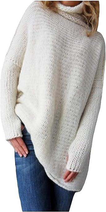 Jersey Mujer Elegantes Moda Camisas Invierno Otoño Cuello ...