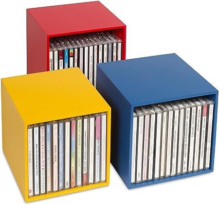 Nouveaute Cd Box Cubix Color Boite De Rangement Cd En Bois 3 Boites Cd En Un
