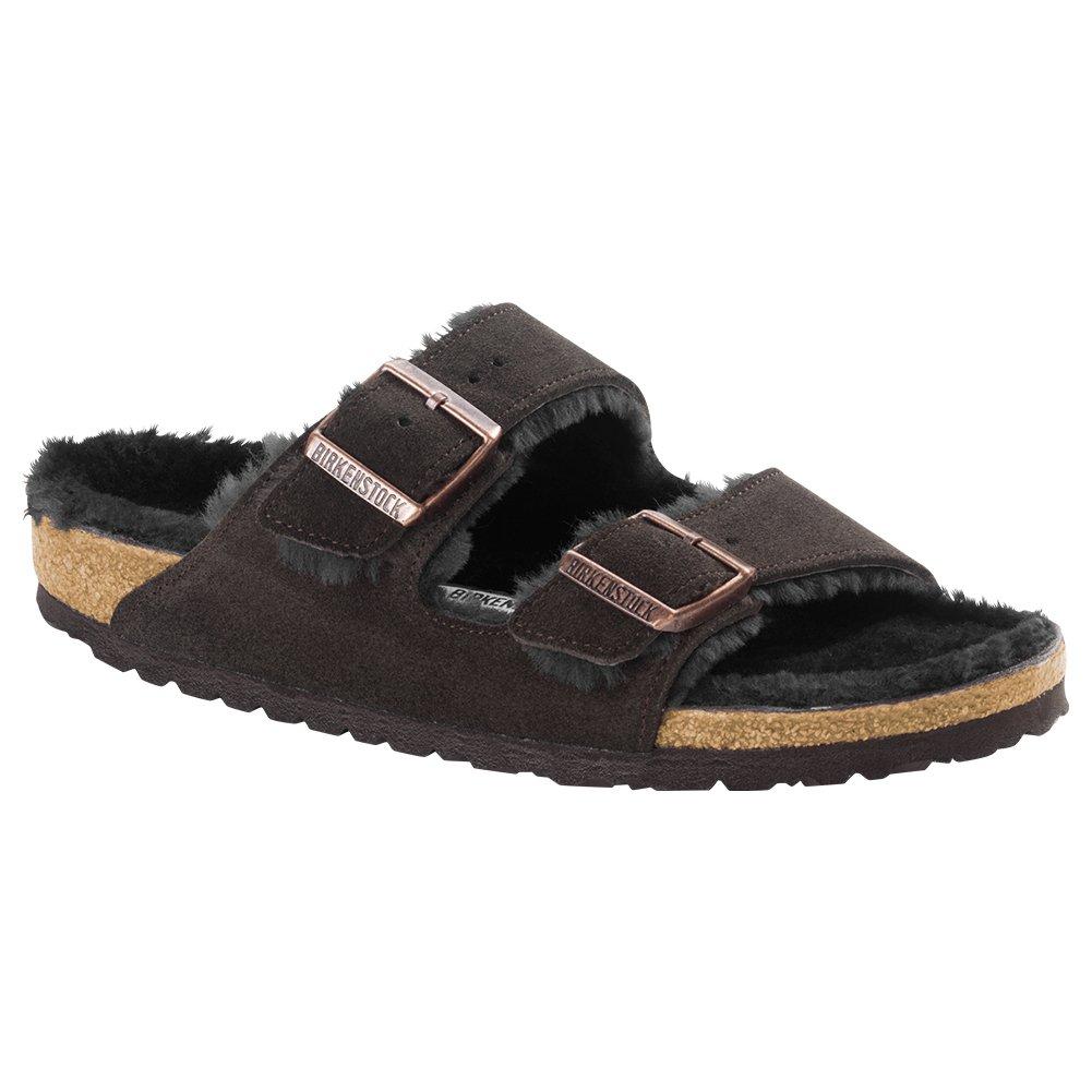 Birkenstock Arizona Shearling Unisex Sandals B01N0Z6NAH 39 Narrow EU|Mocha-mocha Suede