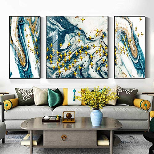 KAAK Birds of Art Luxury Crystal Porcelain Painting Murals Triple Black Diamond 5D Villa Frame Home Living Room Wall…