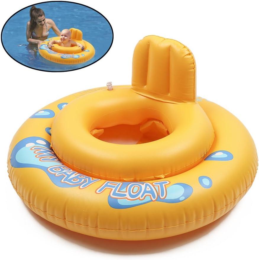 SANGDA - Asiento de natación Inflable, Seguro para bebé, Flotador para la Playa, Juguete de natación, Asiento Seguro para niños y niñas