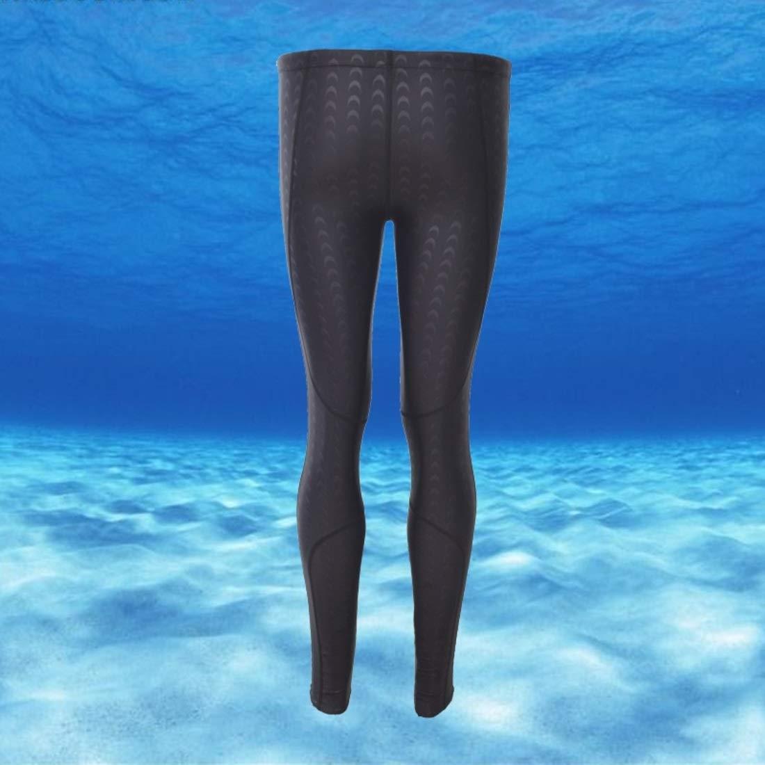 Surf plong/ée comp/étition pour Jambes Longues Maillot de Bain /à Neuf Points Peau de Requin Maillot de Bain pour Homme Chengduaijoer /Écran Solaire imperm/éable et /à s/échage Rapide