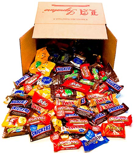 (Candy & Chocolate HERSHEY'S Nestle M&M'S DOVE Variety Assortment Mix Bulk GIFT BOX (93 oz 160 Count ALL)