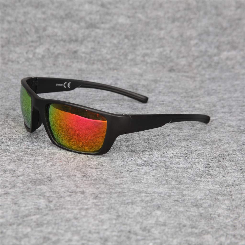 Gafas de sol de Hombres Deportes al aire libre Sunglasses Motocicleta Bicicleta Fashion Sports sunglasses Lentes cuadradas Espejo plano Súper Ligero ...