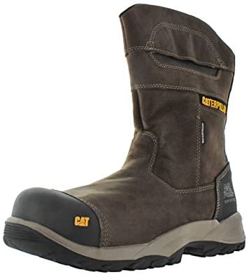 Caterpillar Men's Jenka Waterproof Composite Toe Work Boots, Brown Leather,  ...