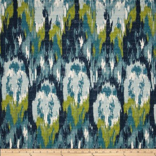 Barkcloth Cotton - Premier Prints Ikat Craze Birch Barkcloth Fabric, Frost