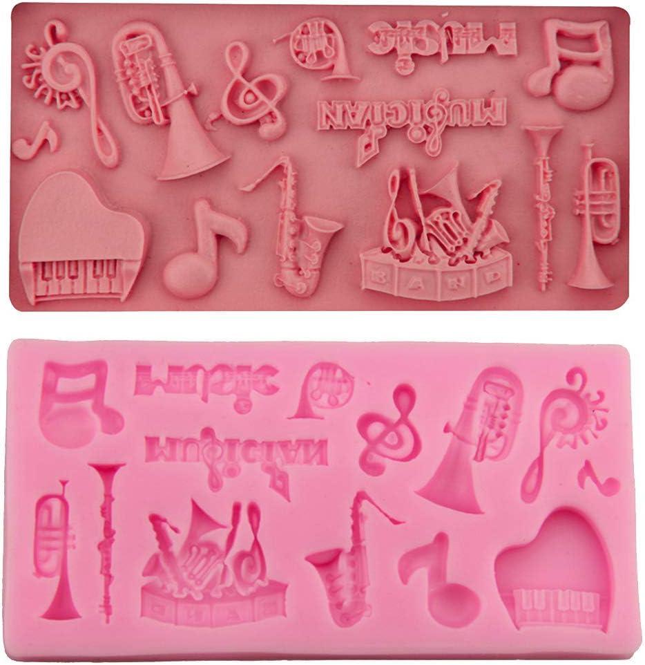 KFYOUXIN Molde para Pastel de Silicona con Forma de Instrumento Musical Molde de jabón Hecho a Mano para Pastel de Chocolate Molde para Hornear Utensilios de Cocina