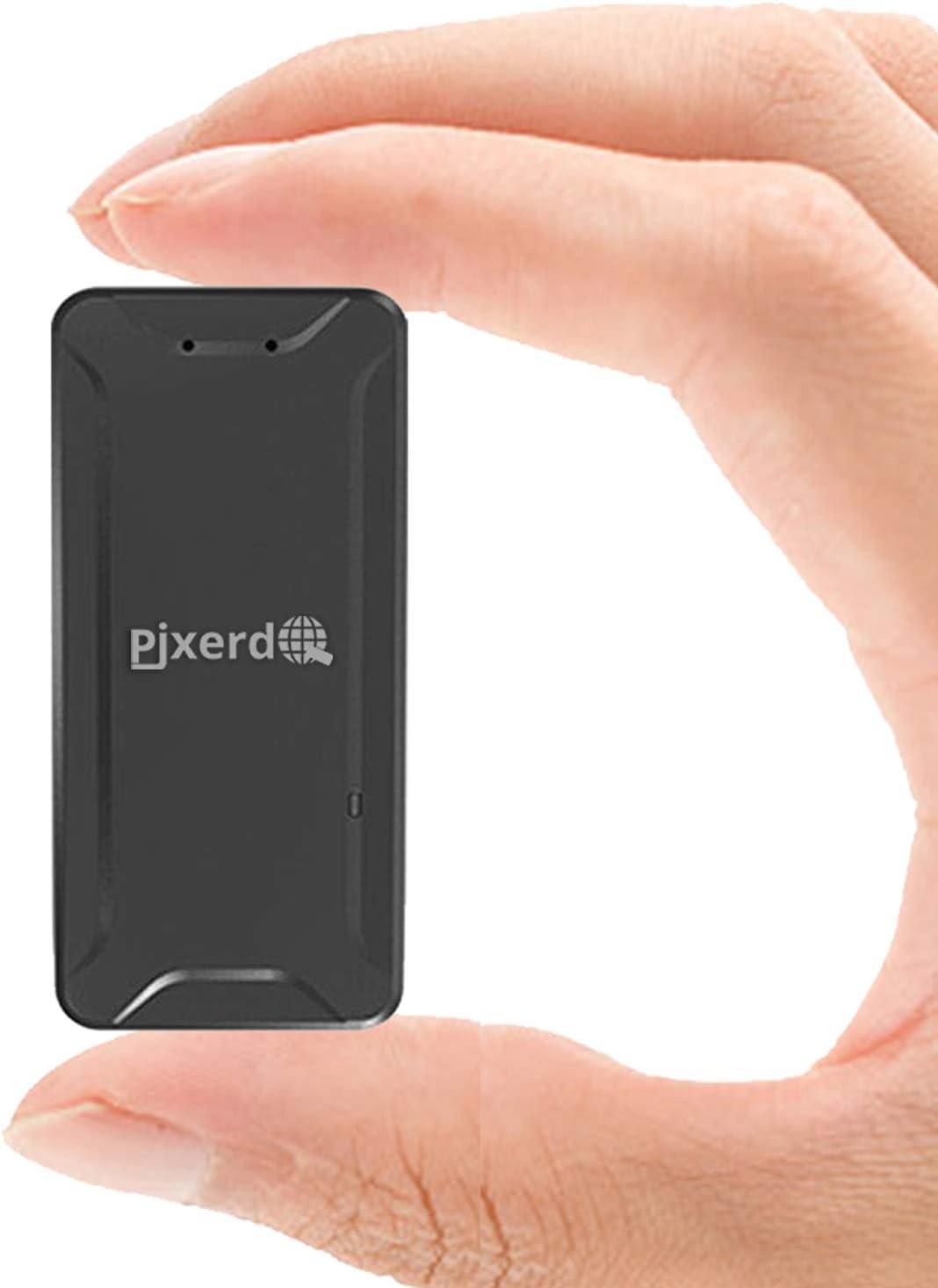 Mini Localizadores GPS, PjxerdQ Real Antirrobo GPS Localizadores para Vehículos/niños con Seguimiento de Actividad Fuerte Imán Recargable GPS Tracker con Aplicación Gratuita para Android iOS AT2