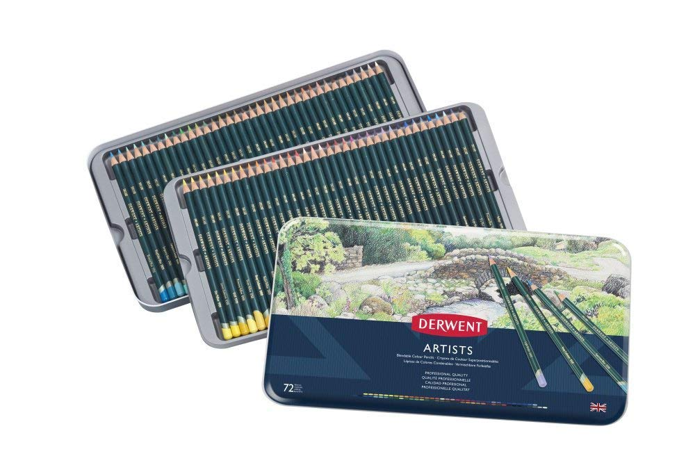 Derwent Artists Colored Pencils, 4mm Core, Metal Tin, 72 Count (32097) by Derwent (Image #2)