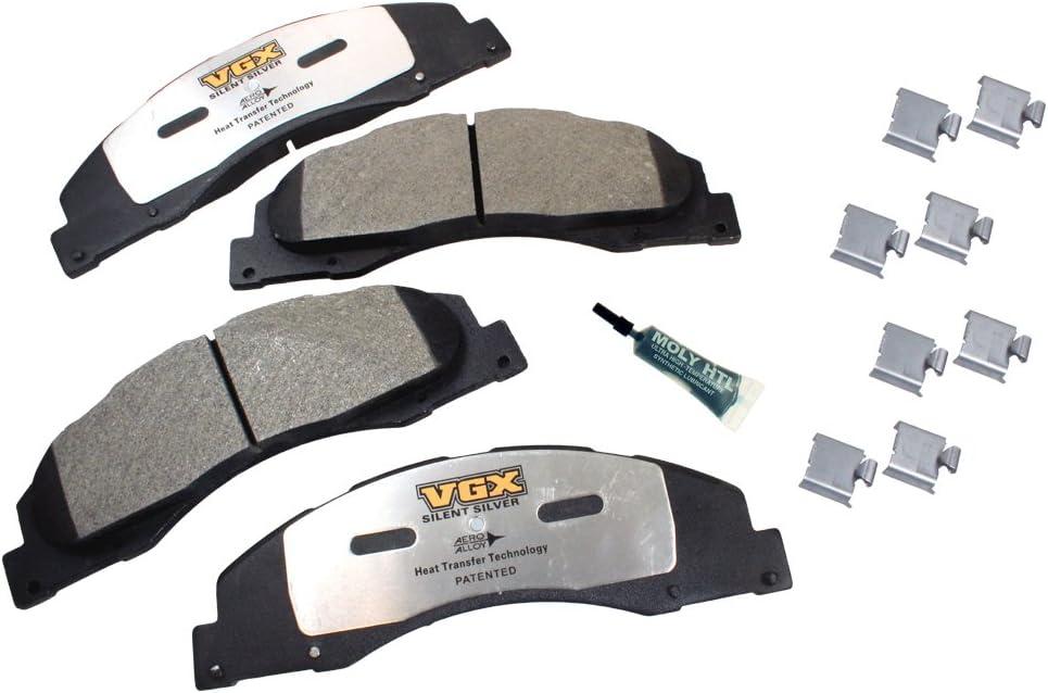 Front VGX Brakes MF1328K Semi-Metallic Brake Pad Set with Hardware