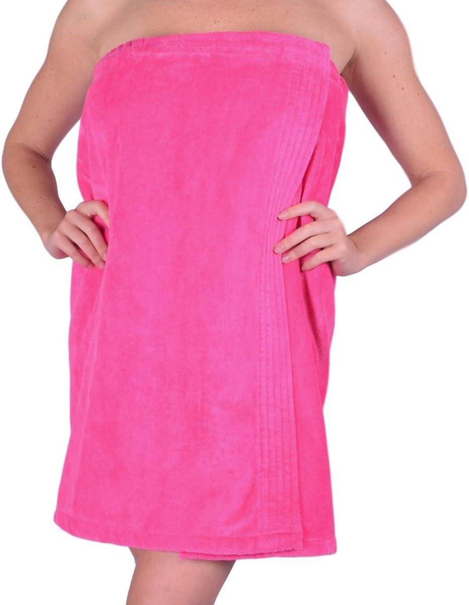 Women/'s 100/% Organic Cotton Adjustable Towel Wraps for Spa Gym Pool Bath Shower