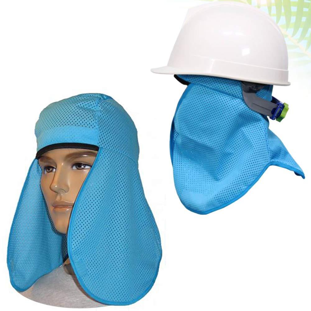 2PCS Safety Hard Hat Sweatband Sun Shade Prevent Heat Stress Improve Comfort Cool Air Mesh Microfiber Cooling Liner Pad Sun Shield Protector UV Head Protection Debris Neck Face Shield Mask Balaclavas
