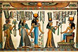 AOFOTO 15x10ft Ancient Egyptian Mural Backdrop Papyrus Painting Sacrifice Totem Belief Religious History Culture Photography Background Egypt Travel Photo Shoot Studio Props Video Drop Vinyl Wallpaper