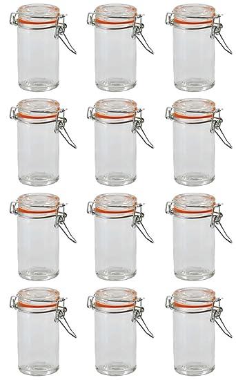 Einmachglas Vorratsglas mit orangenem Silikonring und ...