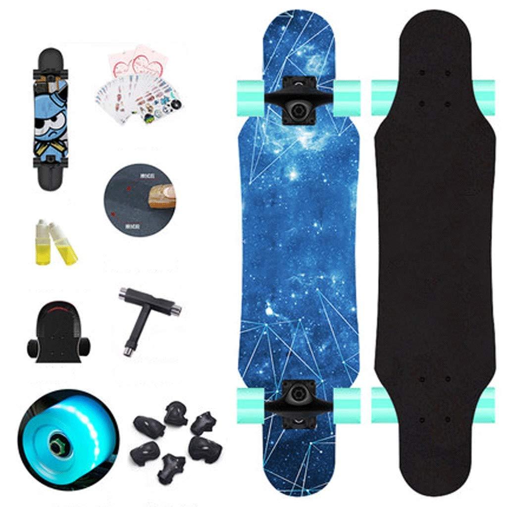 流行に  スケートボード初心者子供スケートボードティーン女の子ボーイズ子供スケートボード子供初心者四輪スケートボード B07KZS3PDQ (色 : Galaxy) B07KZS3PDQ 青 青 Galaxy) 青, 船岡町:1d1c1094 --- a0267596.xsph.ru