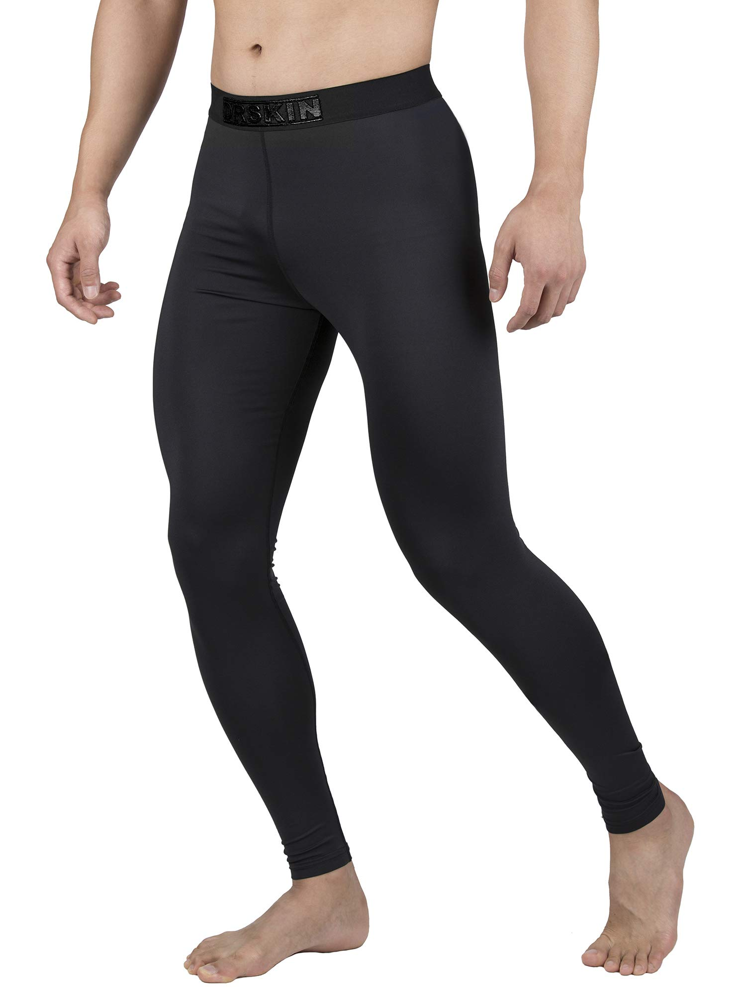 DRSKIN 1~3 Pack Men's Compression Dry Cool Sports Tights Pants Baselayer Running Leggings Yoga (Packs of 1, 2, or 3 Deals) (Silicon BB01, XL) by DRSKIN