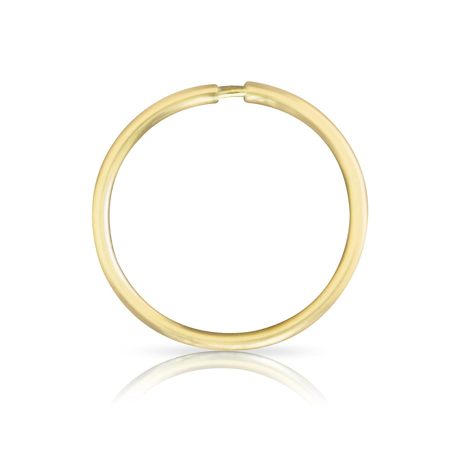 ONDAISY 1PCS 20G 14k Solid Real Gold Segment Septum Lip Nose Round Hoop Tragus Helix Cartilage Daith Inner Outer Conch Ring Ear Piercing Earring 14KE02019