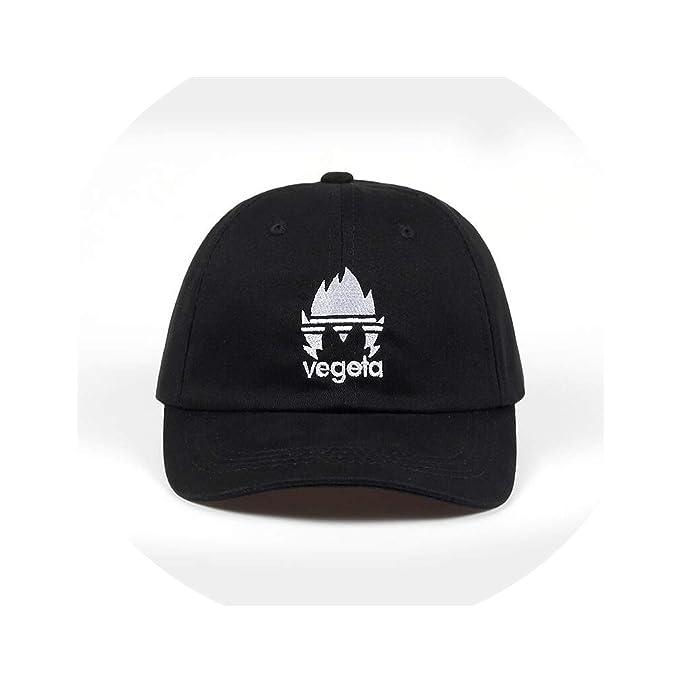 9d01717e1c3 100% Cotton Embroidery Vegeta Dad Hat Bone Baseball Cap Casquette Hat  Snapback Caps for Men