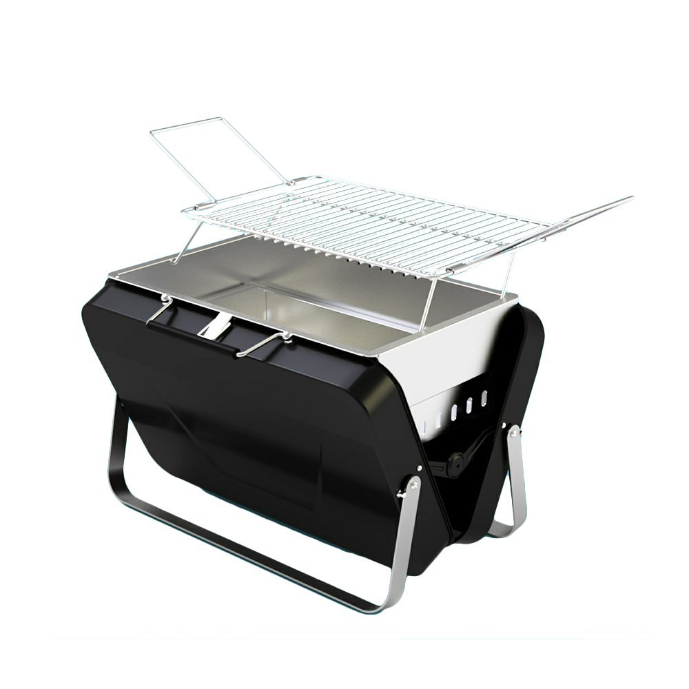 Portable Charcoal BBQ Grill - Premium Foldable Charcoal Barbecue Grilling BBQ Suitcase Box DALANG INC.