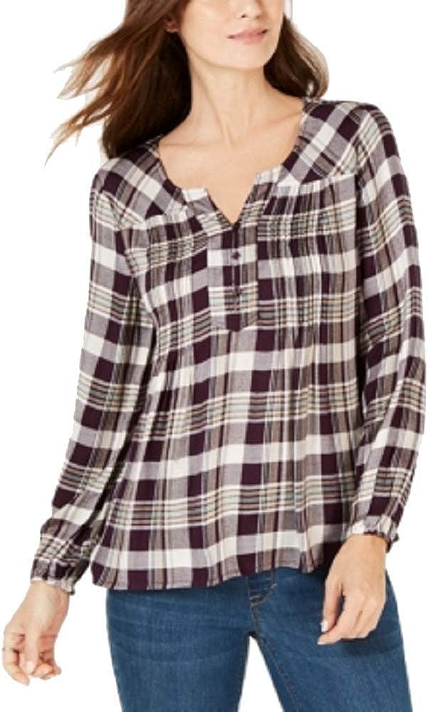 Style & Co. Camisa a Cuadros - Morado - X-Large: Amazon.es: Ropa y accesorios