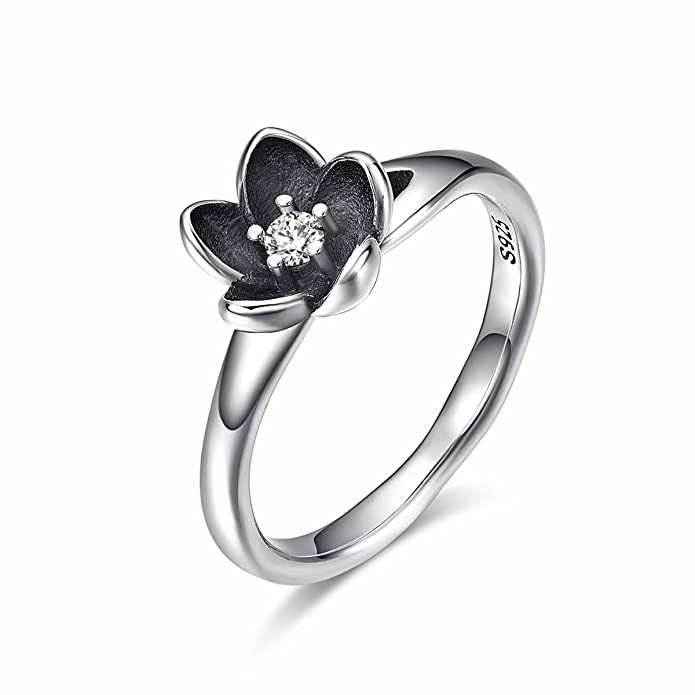 51e31f686 Amazon.com: Twenty Plus Sterling Silver Flowers Finger Rings Dazzling Daisy  Meadow Stackable Ring Birthday Jewelry Gift for Women: Jewelry