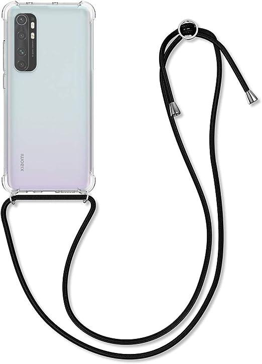 Multicolor Anti-rasgu/ños Anti-Choque Moda y Practico Suave Silicona Transparente TPU Carcasa de movil con Colgante//Cadena YuhooTech Funda con Cuerda para Xiaomi Mi 10 Lite,