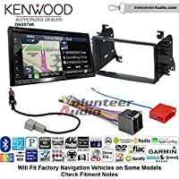Volunteer Audio Kenwood DNX574S Double Din Radio Install Kit with GPS Navigation Apple CarPlay Android Auto Fits 2008-2014 Kia Sedona, 2009-2010 Kia Optima