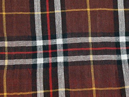 100/% Cotton Tartan Check Fabrics by the metre