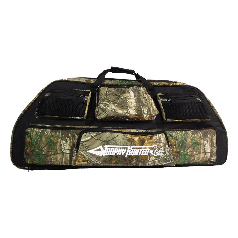 Trophy Hunter–funda para arco de poleas–interior acolchado–5bolsillos de almacenamiento–diseño Camo