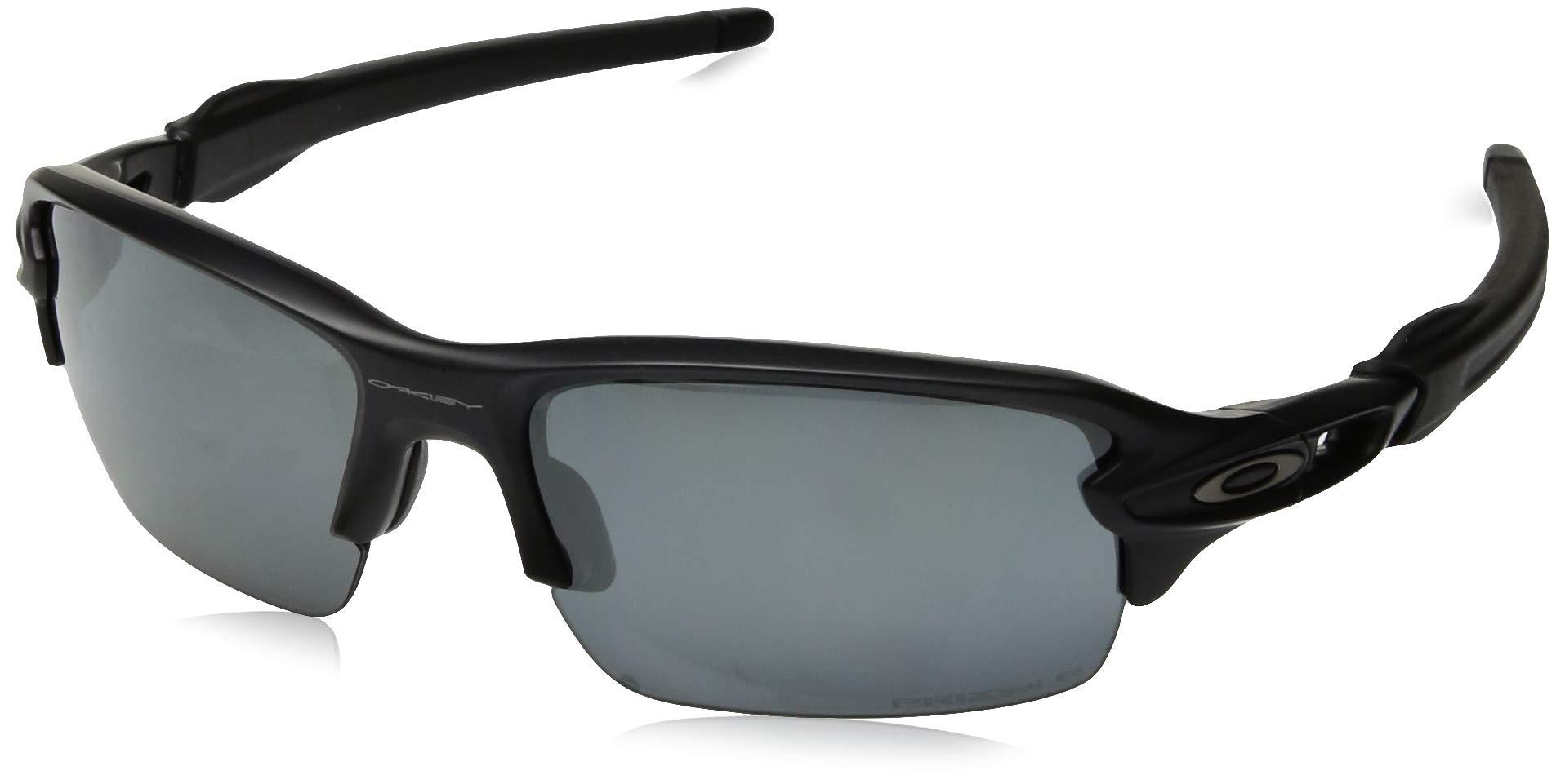 Oakley Boys' Flak Xs Polarized Iridium Rectangular Sunglasses MATTE BLACK 59.0 mm