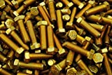 (80) Hex Head Bolts 7/16-20 x 1-1/2 Fine Thread Grade 8 Yellow Zinc USA