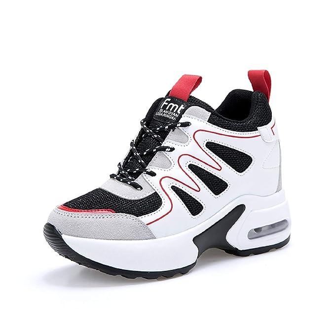AONEGOLD® Sneaker mit Keilabsatz Damen Bequeme Atmungsaktiv Sportschuhe Turnschuhe Wedges Freizeitschuhe Keilabsatz 7 cm